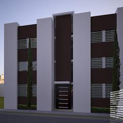 現代房屋設計點子、靈感 & 圖片 根據 HHRG ARQUITECTOS 現代風