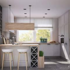 Jasna kuchnia: styl , w kategorii Kuchnia zaprojektowany przez MIKOŁAJSKAstudio