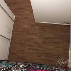 Дизайн-проект 3-х комнатной квартиры  фьюжн, поп-арт: Стены в . Автор – Студия Инстильер | Studio Instilier
