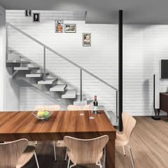 Hillside Gate:  Dining room by Swart & Associates Architects, Modern