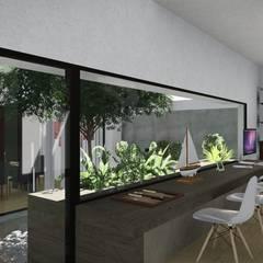 Casa Patio: Jardines de invierno de estilo  por ARBOL Arquitectos