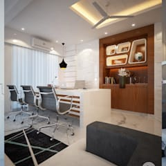 Office Interior:  Study/office by spacefusion,