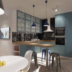 Cocinas de estilo  por AlexLadanova interior design