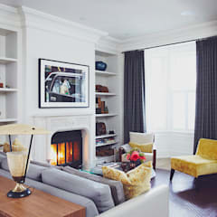 Victorian Modern:  Living room by Douglas Design Studio