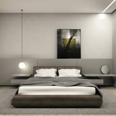 Dormitorios de estilo minimalista de RAFE Arquitetura e Design Minimalista Concreto