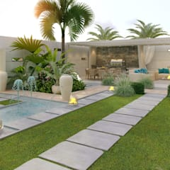 ​Landscaping ideas of Katrina Antonovich:  Houses by Luxury Antonovich Design, Mediterranean