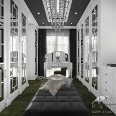 Projekt garderoby - wnętrze klasyczne: styl , w kategorii Garderoba zaprojektowany przez ArtCore Design