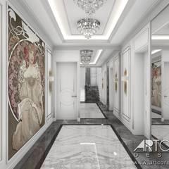 Luksusowy hol w dużym domu: styl , w kategorii Korytarz, przedpokój zaprojektowany przez ArtCore Design