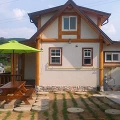 18평 소형 통나무집: 보국주택의  주택,러스틱 (Rustic)