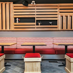 Bench seating area:  Bars & clubs by Alice D'Andrea Design