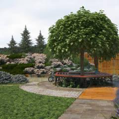 Дача для многодетной семьи: Сады в . Автор – Мастерская ландшафта Дмитрия Бородавкина