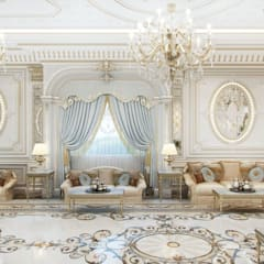 Perfect interiors of Katrina Antonovich: classic Living room by Luxury Antonovich Design