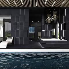 strefa przy basenie - domowe spa: styl , w kategorii Basen zaprojektowany przez ARTDESIGN architektura wnętrz
