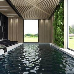nowoczesna aranżacja basenu: styl , w kategorii Basen zaprojektowany przez ARTDESIGN architektura wnętrz