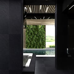 luksusowy dom z basenem: styl , w kategorii Basen zaprojektowany przez ARTDESIGN architektura wnętrz
