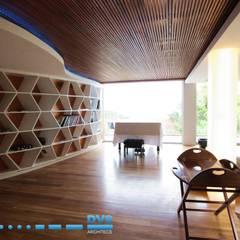 Preller Clifton:  Living room by DV8 Architects, Modern
