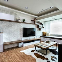 Living room by 青瓷設計工程有限公司, Country
