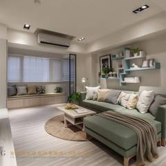 ห้องนั่งเล่น by 垼程建築師事務所/浮見月設計工程有限公司