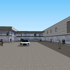 strip center huechuraba: Centros Comerciales de estilo  por ARQUITECTURA VANGUARDIA
