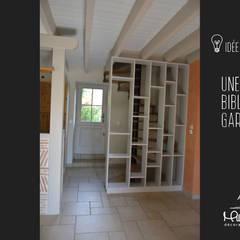 Rénovation séjour cuisine: Couloir et hall d'entrée de style  par Mlle Emy