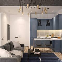 Квартира- студия 46 м/кв.: Гостиная в . Автор – metrixdesign