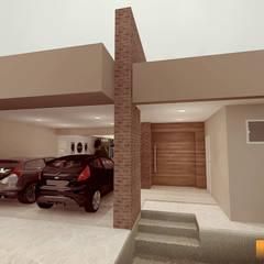 Fachada: Casas  por Renan Carvalho Arquitetura e Interiores