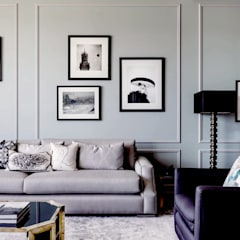 The Pearl:  Living room by Joe Ginsberg Design