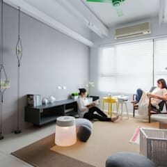 生活,就是那麼有趣:  商業空間 by 伏見設計事業有限公司, 簡約風