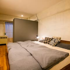 H邸インダストリアルリノベーション: 株式会社トキメキデザイン・アトリエが手掛けた寝室です。,インダストリアル