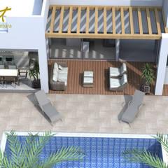 Piscinas de estilo  por Habitat arquitetura