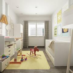 Villa CA: Stanza dei bambini in stile  di De Vivo Home Design