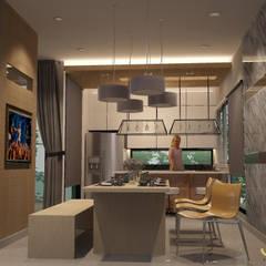 บ้านพักอาศัยสามชั้น ม.สัมมากร:  ห้องทานข้าว by jcia co.,ltd