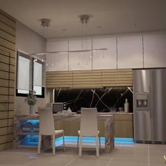 บ้านพักอาศํยสามชั้น:  ห้องครัว by jcia co.,ltd