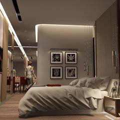 บ้านพักอาศํยสามชั้น:  ห้องนอน by jcia co.,ltd