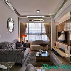 Living room by 大衛麥可國際設計工程有限公司