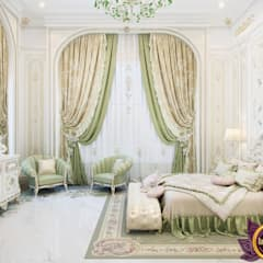   Bedroom interior in classic style by Katrina Antonovich: classic Bedroom by Luxury Antonovich Design