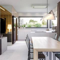 Projekt domu HomeKONCEPT 42: styl , w kategorii Jadalnia zaprojektowany przez HomeKONCEPT | Projekty Domów Nowoczesnych