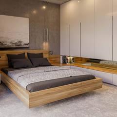 Projekt domu HomeKONCEPT 42: styl , w kategorii Sypialnia zaprojektowany przez HomeKONCEPT | Projekty Domów Nowoczesnych