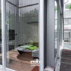 自然。隱逸 - 北歐風格:  露臺 by 有容藝室內裝修設計有限公司