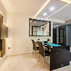 HDB Blk 293B Compassvale Crescent:  Dining room by Renozone Interior design house