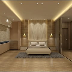 Master Bedroom: minimalistic Bedroom by VT architects