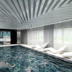 projekt domu z basenem: styl , w kategorii Basen zaprojektowany przez ARTDESIGN architektura wnętrz