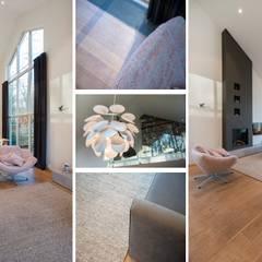 Bosvilla Rosmalen: moderne Woonkamer door Studio'OW Interieurontwerp