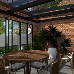 Chef´s Pizza : Espaços gastronômicos  por HOME Arquitetura