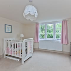 Japonica Cottage, Surrey :  Nursery/kid's room by Orchestrate Design and Build Ltd.