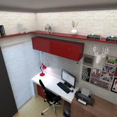 Escritório - Residência FL: Escritórios  por Grafite - Arquitetura e Interiores