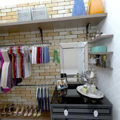غرفة الملابس تنفيذ Grafite - Arquitetura e Interiores,