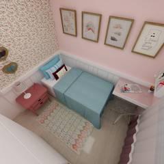 Quarto menina - DB: Quarto infantil  por Grafite - Arquitetura e Interiores