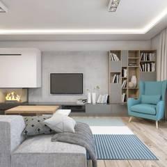 Living room by BAGUA Pracownia Architektury Wnętrz, Scandinavian
