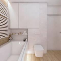 Projekt domu jednorodzinnego 10: styl , w kategorii Łazienka zaprojektowany przez BAGUA Pracownia Architektury Wnętrz
